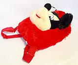 Детский рюкзак игрушка Минни Маус с бабочкой 22*24 см, фото 4
