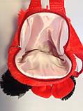 Детский рюкзак игрушка Минни Маус с бабочкой 22*24 см, фото 5