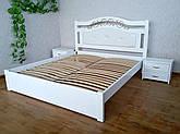 """Белая деревянная кровать с мягким изголовьем """"Фантазия Премиум"""""""