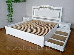 """Белый спальный гарнитур из натурального дерева """"Фантазия Премиум"""" (кровать с тумбочками), фото 3"""