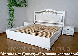 """Белая двуспальная кровать с мягким изголовьем """"Фантазия Премиум"""", фото 2"""