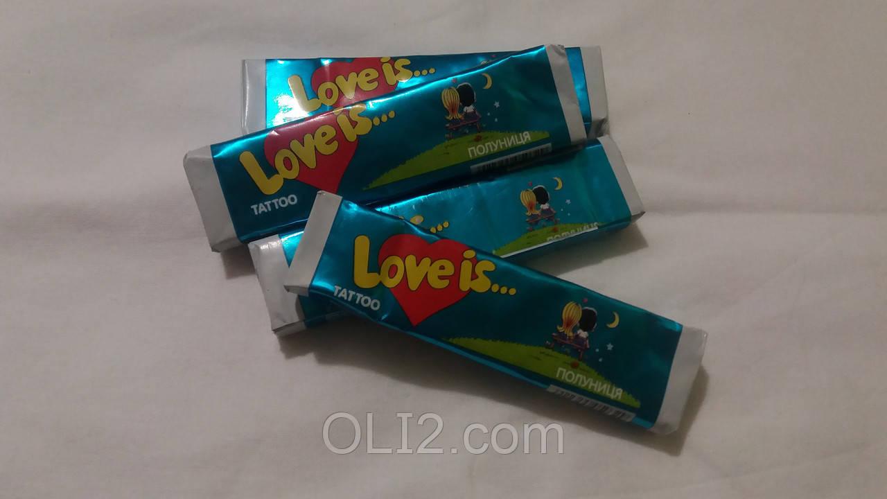 Жвачки Love is  Клубника- жевательная конфета лове ис