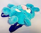 Детский рюкзак игрушка Зайчик голубой 24*28 см, фото 2