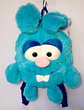 Детский рюкзак игрушка Зайчик голубой 24*28 см, фото 3