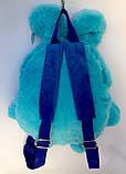 Детский рюкзак игрушка Зайчик голубой 24*28 см, фото 5