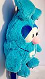 Детский рюкзак игрушка Зайчик голубой 24*28 см, фото 7