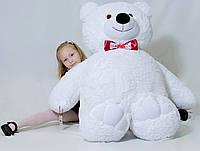 Белый плюшевый медведь 160см, холофайбер