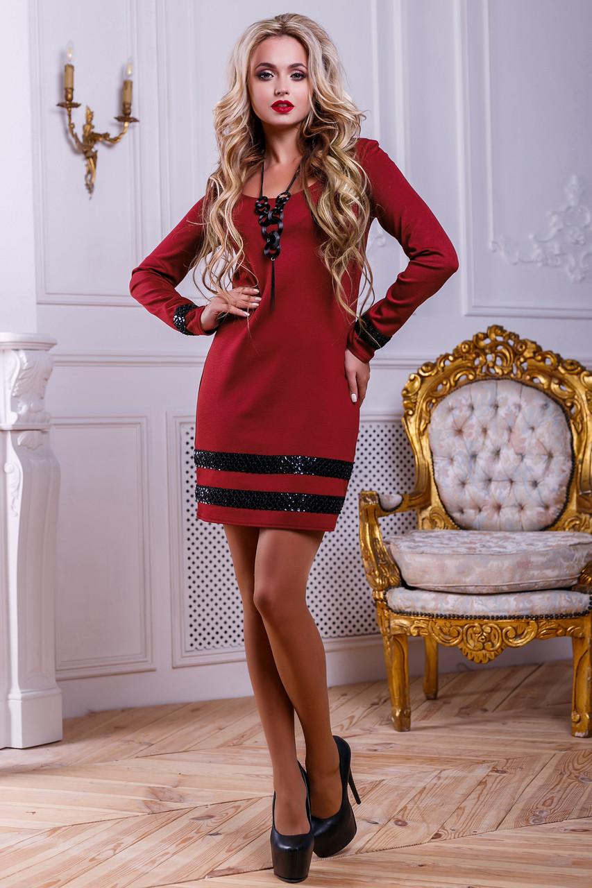 d62e19142a4 Короткое трикотажное платье с декором из пайетки (разные цвета) - IBERIS в  Харькове