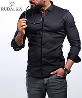 Стильная однотонная рубашка с длинным рукавом-трансформером (Турция), большой ассортимент