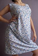 Женская ночная рубашка Любушка расцветка синие фиалки