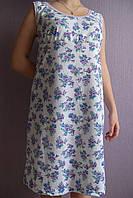 Женская ночная рубашка Любушка расцветка пионы