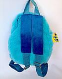 Детский рюкзак игрушка голубая Лемур 22*24 см, фото 3