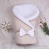 """Демисезонный конверт-одеяло """"Глория"""" карамель, фото 5"""