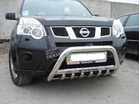 Кенгурятник с надписью Can otomotiv для Nissan X-trail 2007-2014