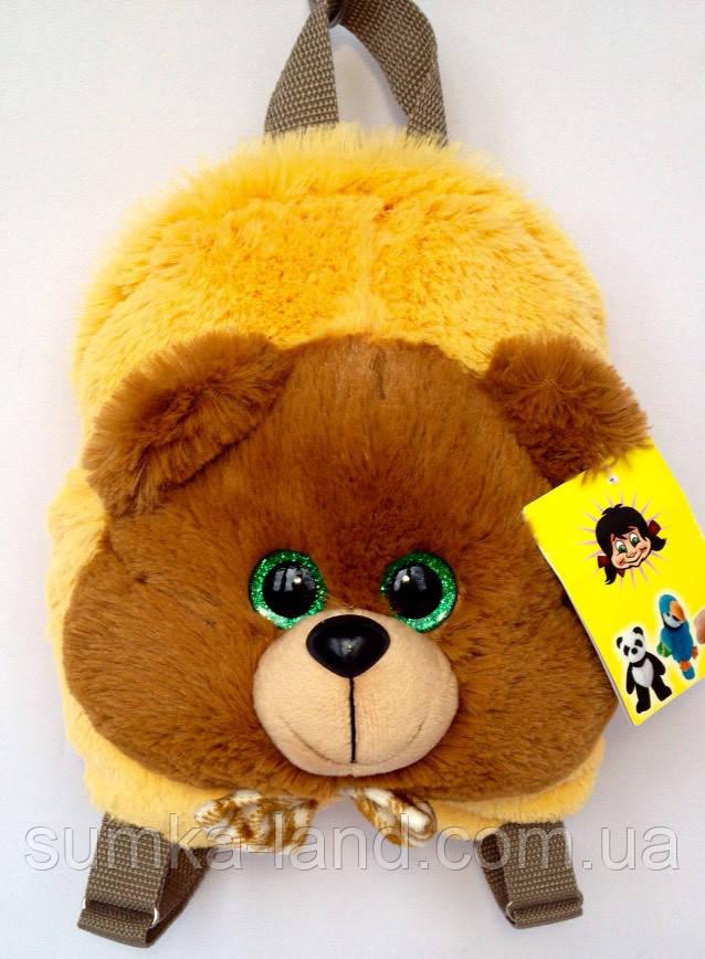 Детский рюкзак игрушка Медвежонок 22*24*8 см коричневый