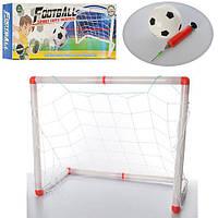 Футбольные ворота M 3040 (20шт) пластик, 50-40-25см, мяч14см, ПВХ надув,насос, в кор-ке,40,5-16-6см