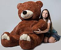 Большой плюшевый медведь 200см (коричневый) холофайбер