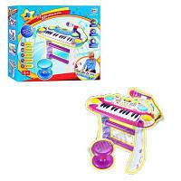 Пианино 7235 Музыкант,на подставке,стул,микрофон