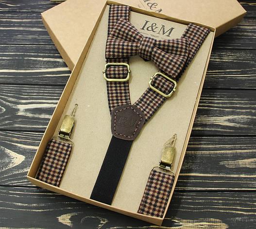 Набор I&M Craft галстук-бабочка и подтяжки для брюк (030206), фото 2