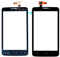 Сенсорное стекло для Alcatel OT 8000 One Touch Scribe Easy/8000D, черный