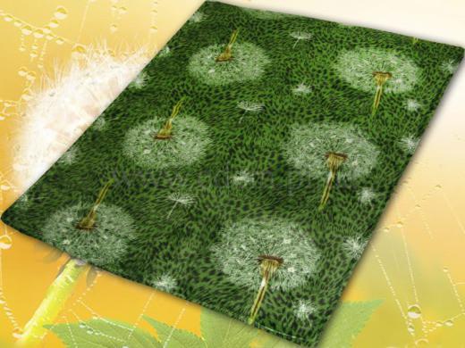 Микрофибровая простынь, плед, покрывало Elway евро Одуванчик зелёный