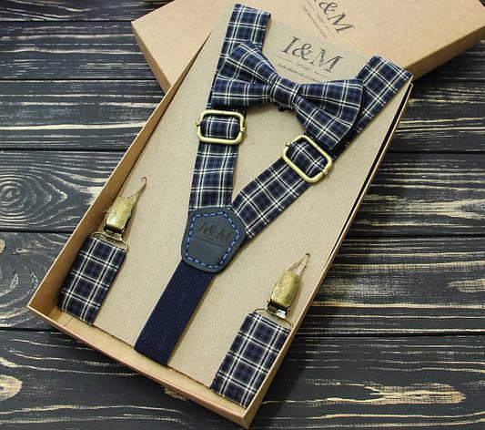 Набор I&M Craft галстук-бабочка и подтяжки для брюк  (030205), фото 2