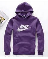 Кофта Nike фиолетовая с капюшоном