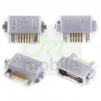 Разъем зарядки Sony Ericsson ST18i/ST25i/C6602/C6603/LT25i/WT19i/MK16, 5 pin, micro-USB тип-B