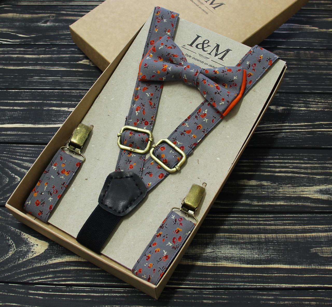Набор I&M Craft галстук-бабочка и подтяжки для брюк (030214)