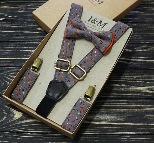 Набор I&M Craft галстук-бабочка и подтяжки для брюк (030214) , фото 2