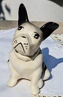 Скульптура Собака,собачка,щенок! Бульдог! РЕДКАЯ!
