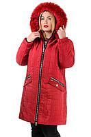 Женское пальто большого размера Эвелина от производителя 52-62
