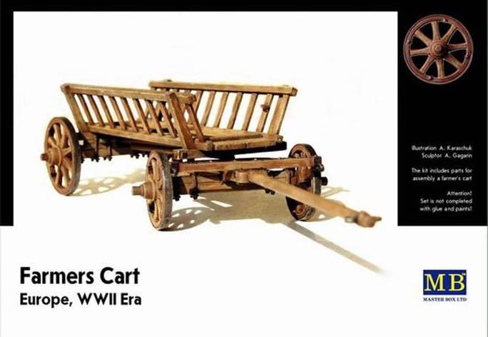 Сборная модель фермерской телеги. Европа, WWII. 1/35 МАСТЕР БОКС 3537, фото 2