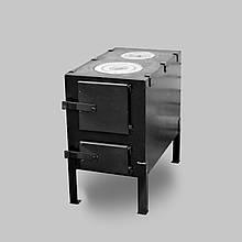 Піч буржуйка КВД-150 з чавунній варильної поверхнею