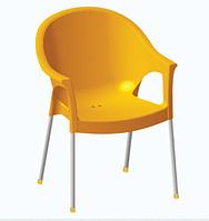 """Пластиковое кресло с алюмин. ножками """"Bergama"""""""
