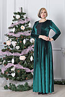Нарядное бархатное женское платье большого размера Илария