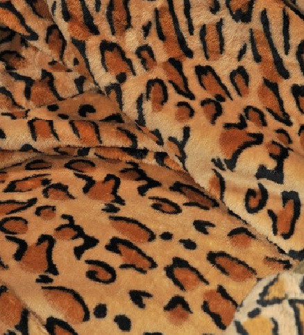 Микрофибровая простынь, плед, покрывало Elway евро Шкура леопард