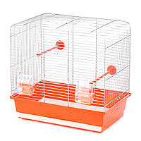 Клетка для пары волнистых попугаев Luna цинк (450*280*425)