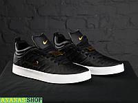 Мужские кроссовки Nike Tiempo Vetta Black ТОП качество! Натуральная кожа!
