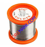 Припой для пайки с флюсом ПОС-61 170 грамм олово 61%
