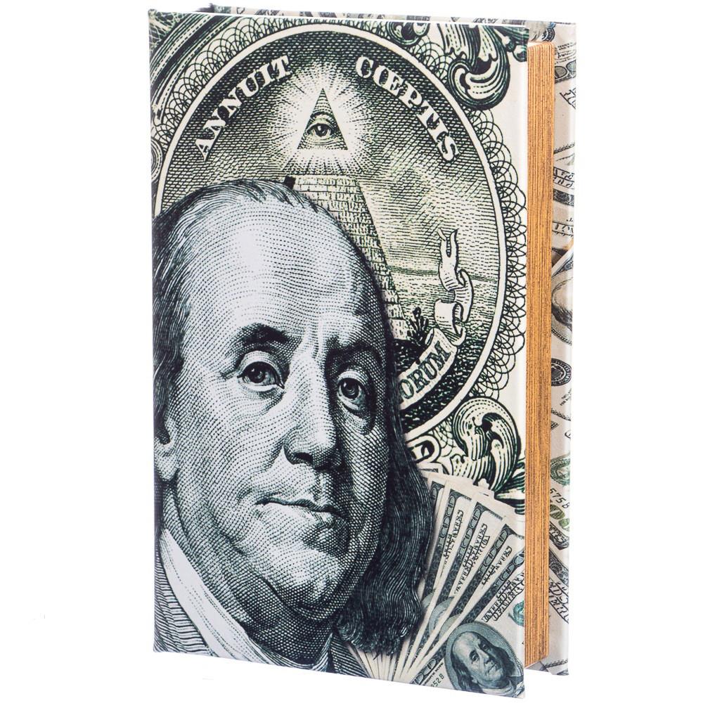 Шкатулка-книга на ключе 100 долларов 26*17*5 см (020UE)