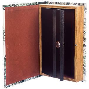 Шкатулка-книга на ключе 100 долларов 26*17*5 см (020UE), фото 2