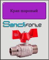 "Кран шаровый SD Forte 1/2"" НН вода (бабочка)"