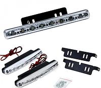 Дневные ходовые огни для автомобиля DRL 8 LED диодов