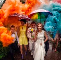 Идеи для фотосессии с Цветным Дымом