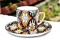 Очаровательная чашка с блюдцем! Чехия! Epiag!