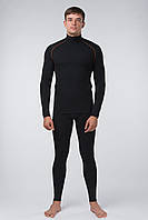 Термобелье шерсть Kifa Wool Comfort комплект с горловиной зип Черный КМО-620