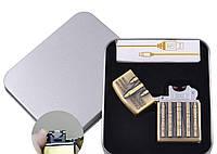 Электроимпульсная зажигалка в подарочной упаковке Ракета (USB) №XT-4886-3