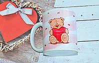 """Чашка """" Мишка"""" для влюбленных."""