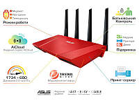 Интернет-шлюз ASUS RT-AC87/R 802.11ac AC2400 1x1G WAN, 4x1G LAN, 1xUSB 3.0, 1xUSB 2.0, 4х4MIMO, Red, RT-AC87U_R